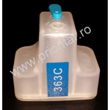 Cartus cip autoresetabil albastru HP-363 C8771 reincarcabil refilabil HP363 Cyan auto-resetabil