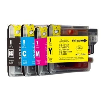 Cartus imprimanta pentru Brother LC1100 / LC980 XL Yellow inkjet cerneala