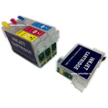 Cartuse autoresetabile EPSON T1292 reincarcabile refilabile Cyan ( Cartus T-1292 cip auto-resetabil albastru )