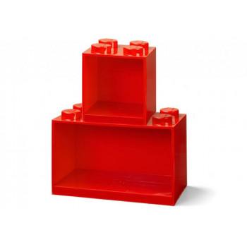 Set 2 rafturi Caramida LEGO - Rosu