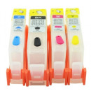 Set 4 cartuse reincarcabile pt HP-364 refilabile HP364 BLACK CYAN MAGENTA YELLOW