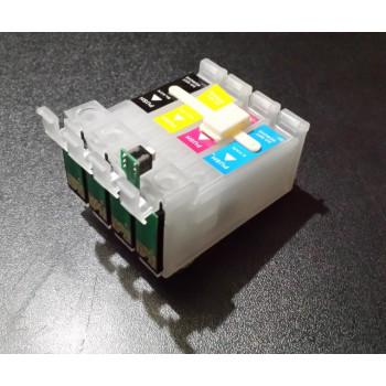 SET Cartuse rezerva pentru Ciss Epson T711 T712 T713 T714 ( T-0711 T-0712 T-0713 T-0714 ) Epson Stylus Photo PX-700W R265 R285 R360 RX-560 RX-585 cu BUTON DE RESETARE !! PRET PROMO !!