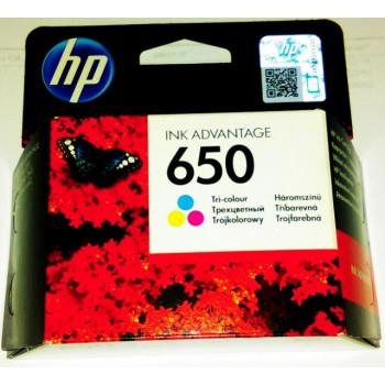 Cartus ORIGINAL HP650 COLOR CZ102AE Hp-650 tricolor 200 pagini 5 ml