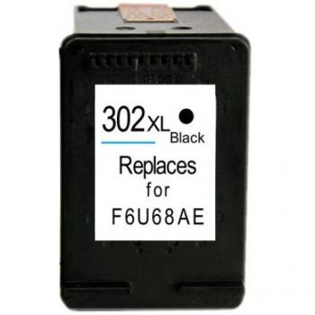 Cartus NEGRU HP302XL HP-302XL HP302-XL F6U68AE compatibil HP 302 XL BLACK