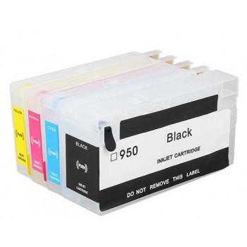 Set 4 cartuse reincarcabile autoresetabile pt HP950 HP951 refilabile HP-950 HP-951 HP Officejet PRO 8610