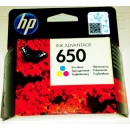 Cartus ORIGINAL HP650 COLOR CZ102AE Hp-650 tricolor 200 pagini 5 ml