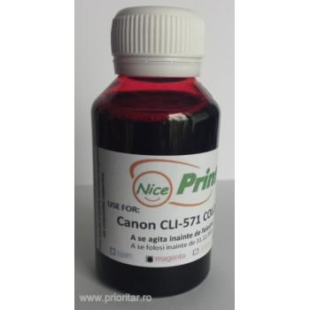 Cerneala ROSIE pentru cartuse CANON CLI-571 MAGENTA refilabile CLI571 - 100 ml