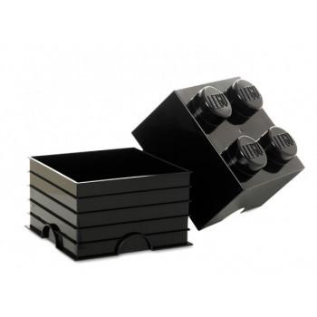 Cutie depozitare LEGO 4 negru