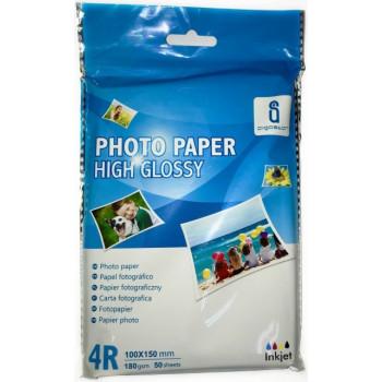 Hartie FOTO High Glossy A6 - pachet de 50 coli 180g ( 100 x 150 mm )