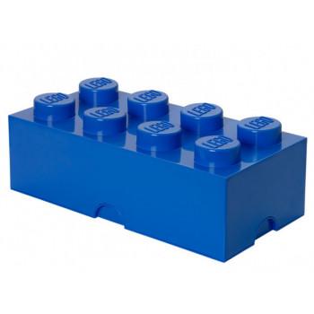 Cutie depozitare LEGO 2x4 albastru inchis