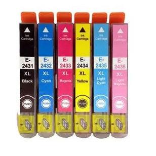 Set 6 cartus imprimanta pt Epson 24XL T2431-XL T2432-XL T2433-XL T2434-XL T2435-XL T2436-XL ( black, cyan, magenta, yellow, light magenta, light cyan )