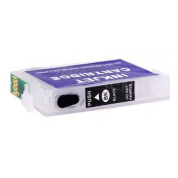 Cartus autoresetabil negru EPSON T1281 reincarcabil refilabil ( Cartuse T-1281 BLACK negre cu cip auto-resetabil ) imprimante Epson Stylus Office BX305F BX305FW S22 SX125 SX130 SX235W SX420W SX425W SX435W SX438W SX440W SX445W