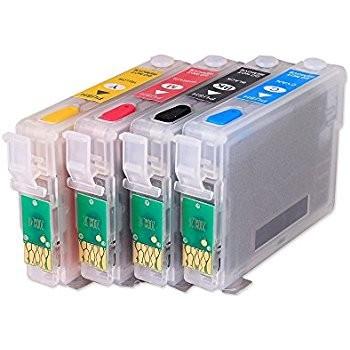 Cartuse reincarcabile PLINE CU CERNEALA Epson T711 T712 T713 T714 autoresetabile T0711 T0712 T0713 T0714 Pack 4 cartuse compatibile