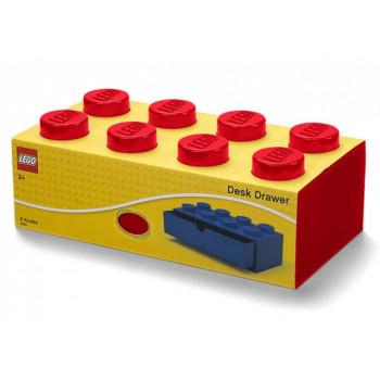 Sertar de birou LEGO 2x4 rosu