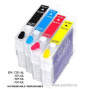 SET Cartuse reincarcabile pt EPSON 27 XL autoresetabile 27XL ( BLACK + CYAN + MAGENTA + YELLOW )