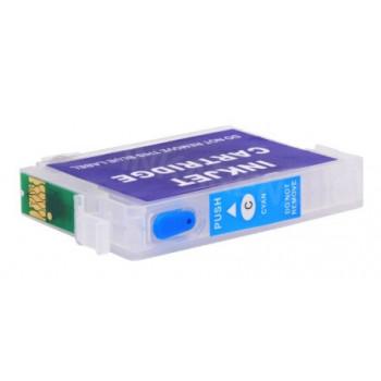 Cartus autoresetabil albastru EPSON T1282 reincarcabil refilabil ( Cartuse T-1282 CYAN albastre cu cip auto-resetabil ) imprimante Epson Stylus Office BX305F BX305FW S22 SX125 SX130 SX235W SX420W SX425W SX435W SX438W SX440W SX445W