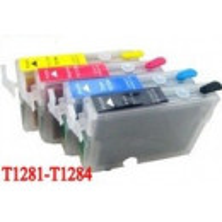 Cartus autoresetabil negru PLIN CU CERNEALA EPSON T1281 reincarcabil refilabil ( Cartuse T-1281 BLACK negre cu cip auto-resetabil ) imprimante Epson Stylus Office BX305F BX305FW S22 SX125 SX130 SX235W SX420W SX425W SX435W SX438W SX440W SX445W