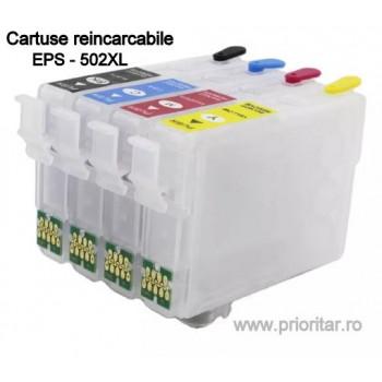 Cartuse reincarcabile pt EPSON 502XL autoresetabile T02W640 C13T02W64010 multipack Epson 502 XL( BK, C, M, Y )