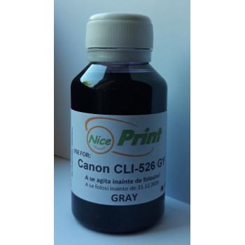 Cerneala gri pt cartuse CANON CLI-526 GRI CLI526-GY gray refilabile si sisteme ciss 100 ml