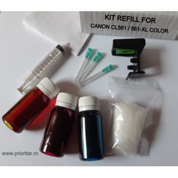 Kit refill reincarcare cartuse Canon CL-561 CL-561XL color CL561