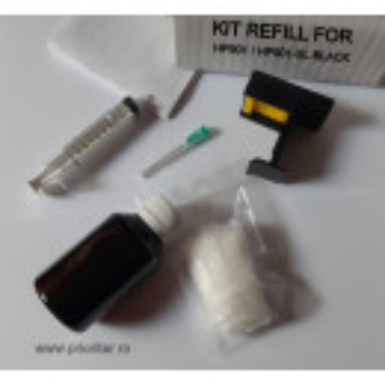 Kit refill reincarcare cartuse HP901 desfundare HP901-XL NEGRU CC653AE CC654AE