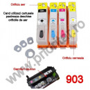 Set 4 cartuse reincarcabile pt HP903 refilabile HP 903XL HP Officejet PRO 6950 6960 6970