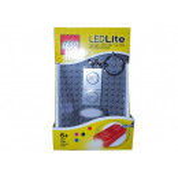Breloc cu lanterna LEGO placa argintie (LGL-KE52GS-S)