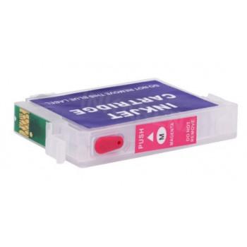 Cartus autoresetabil rosu EPSON T1283 reincarcabil refilabil ( Cartuse T-1283 MAGENTA rosii cu cip auto-resetabil ) imprimante Epson Stylus Office BX305F BX305FW S22 SX125 SX130 SX235W SX420W SX425W SX435W SX438W SX440W SX445W