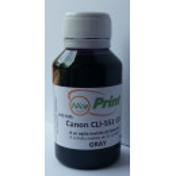 Cerneala gri pt cartuse CANON CLI-551 GRI CLI551-GY gray refilabile si sisteme ciss 100 ml