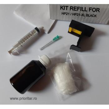 Kit Refill negru incarcare cartuse HP21 HP27 HP56 ( HP 21 HP 27 HP 56 )