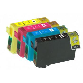 PACHET Cartuse EPSON 18XL T-1811-XL T-1812-XL T-1813-XL T-1814-XL compatibile ( negru + albastru + rosu + galben )