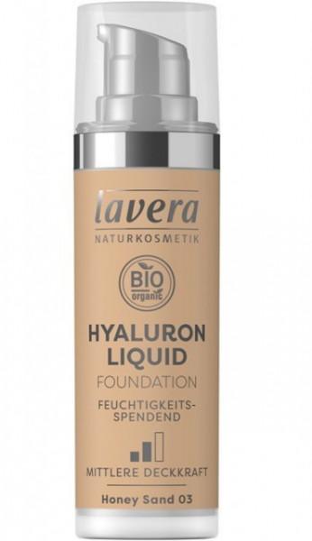 Fond de ten bio Hyaluron Liquid Honey Sand 03, 30ml - LAVERA