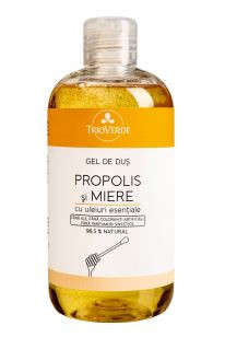 Gel de duș cu Propolis și Miere Trio Verde