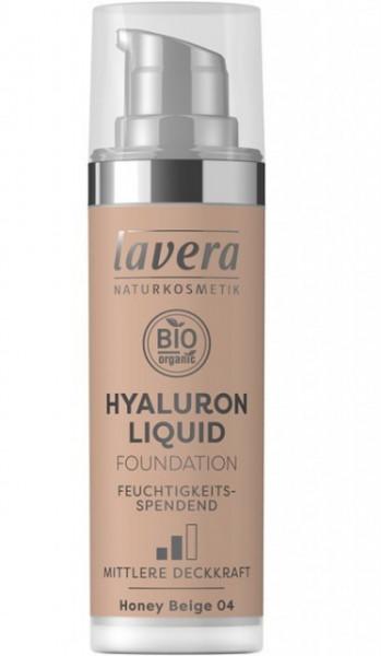 Fond de ten bio Hyaluron Liquid Honey Beige 04, 30ml - LAVERA