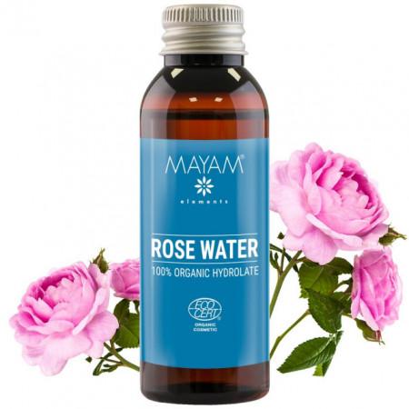 Apă de Trandafiri de Damasc Bio 50ml,  certificata Ecocert - Mayam