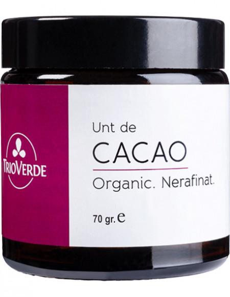 Unt de cacao nerafinat 70g - Trio Verde