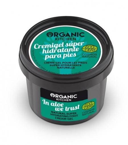 Crema-gel super hidratanta pentru picioare In Aloe We Trust - Organic Kitchen