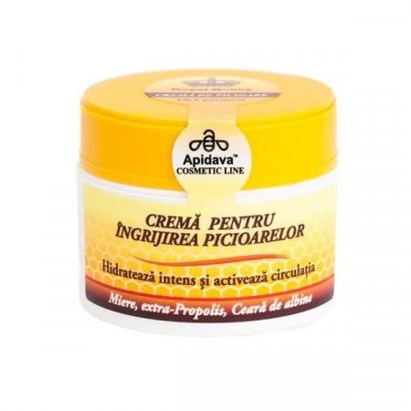 Crema naturala pentru ingrijirea picioarelor miere, propolis, ceara albine - Apidava