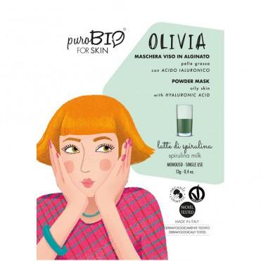 Masca peel-off ten gras OLIVIA spirulina, 13gr - PuroBio