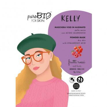Masca peel-off ten uscat KELLY fructe rosii, 13gr - PuroBio