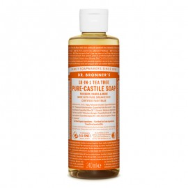 Sapun lichid de Castilia 18-in-1 Arbore de Ceai 60/240/475/945ml - Dr. Bronner