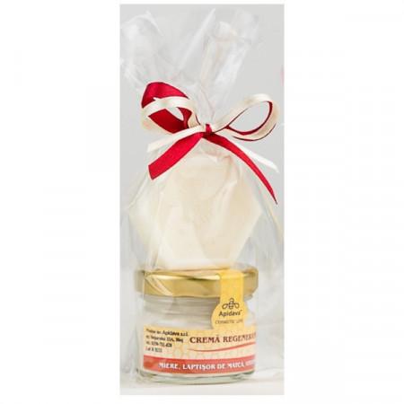 Set Cadou crema regeneranta Apidava 30ml +mini sapun miere