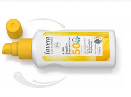 Lotiune protectie solara FPS 50 pentru copii si bebelusi, spray 100ml - LAVERA