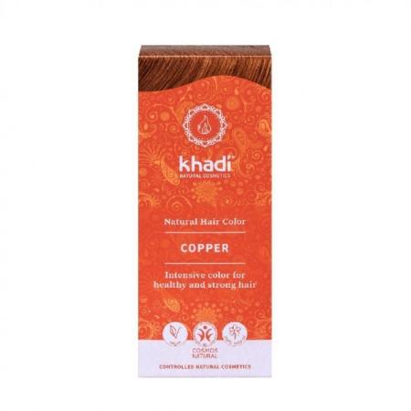 Vopsea de par naturala Cupru - Khadi