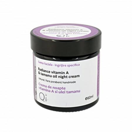 Crema Cu Vitamina A Si Ulei De Tamanu Pentru Noapte - Qi Cosmetics