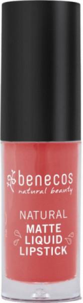 Ruj lichid mat bio, Coral Kiss - Benecos