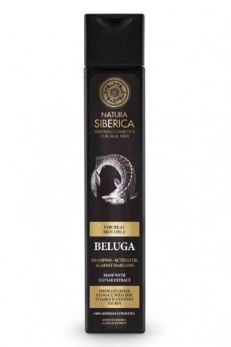 Sampon barbati impotriva caderii parului cu caviar Beluga, 250 ml - Natura Siberica