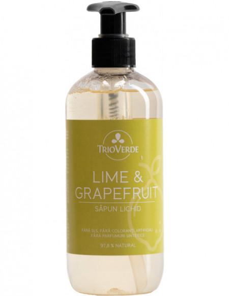 Săpun lichid de mâini cu Lime și Grapefruit 300ml - Trio verde