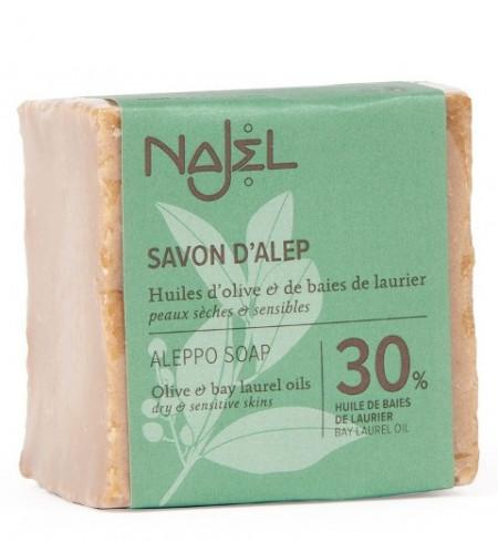 Sapun traditional de Alep cu 30% ulei de dafin, 185g - NAJEL