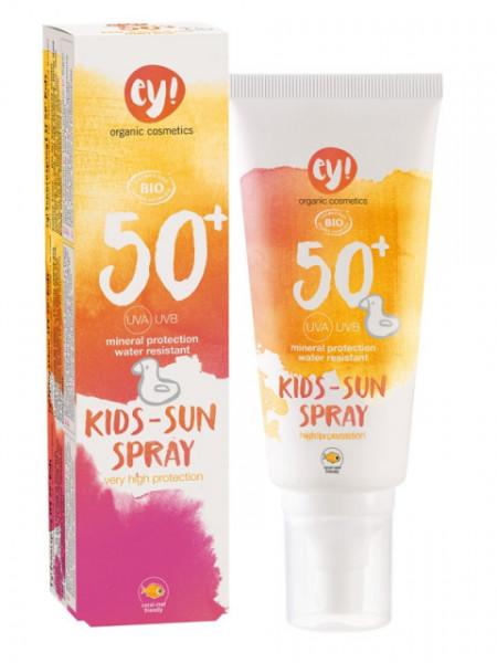 Spray bio protectie solara bebe si copii FPS 50+, 100ml - ey! Eco Cosmetics